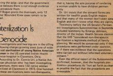 Stérilisations non consenties : une histoire moderne du génocide des peuples natifs américains (1970-1976) par Anouk Essyad