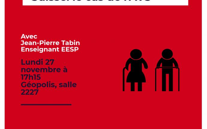 Les politiques sociales en Suisse: le cas de l'AVS