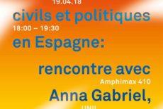 Droits civils et politiques : rencontre avec Anna Gabriel