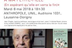 """Jean Ziegler, """"Le capitalisme expliqué à ma petite fille"""""""